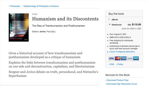 « Humanism and its Discontents », le 8 août 2021